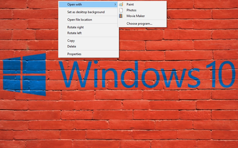 Open With Windows 10