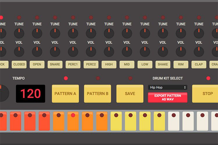 HTML5 Drum Machine site