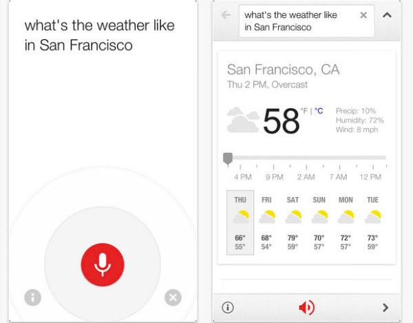 Google Voice Search iOS