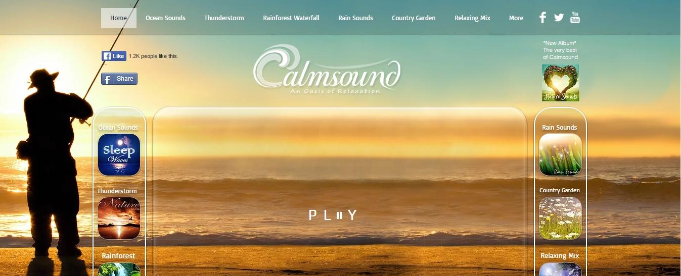 CalmSound Website