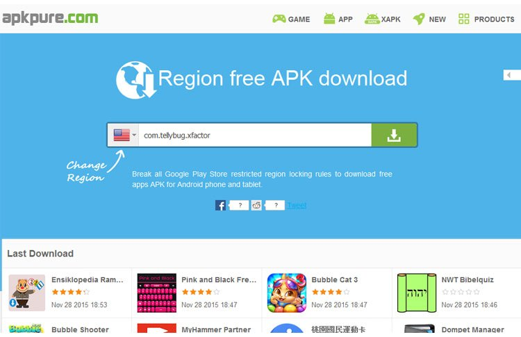 APKpure Region Download