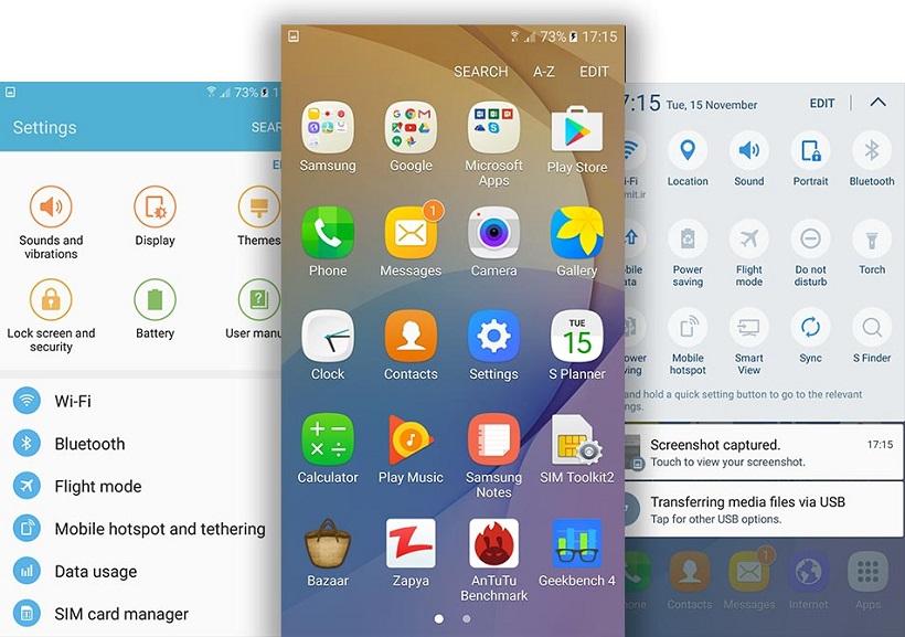 Samsung J7 Prime Software