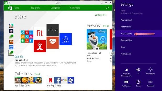 Windows 10 apps update