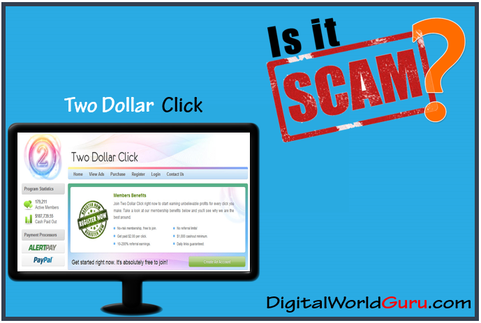 two dollar click scam