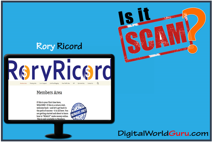 Is Rory Ricord Scam