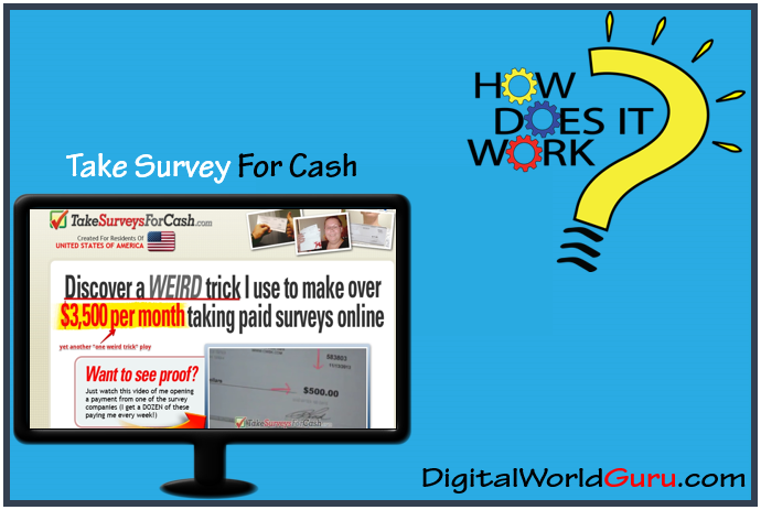 how take survey for cash works