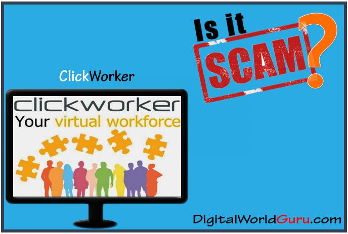is clickworker scam
