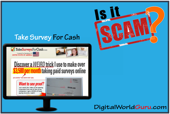 is take surveys for cash a scam