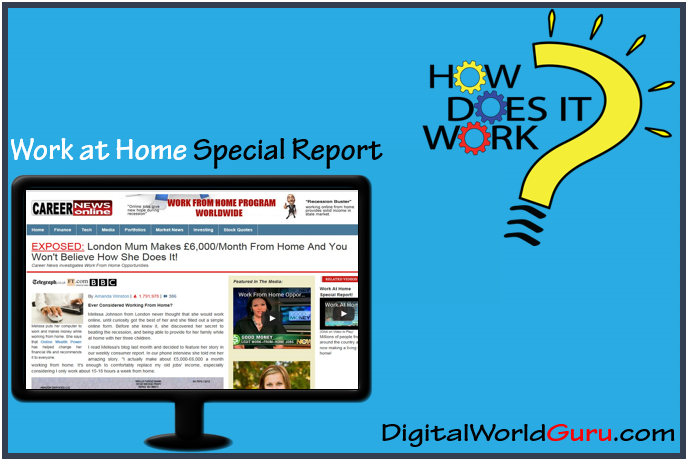 how work at home special report works
