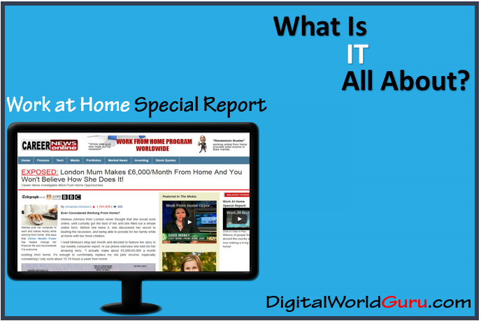 what is work at home special report scam