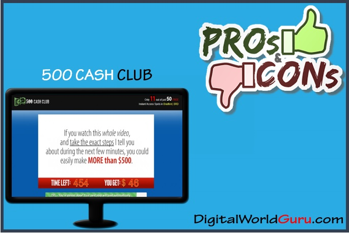 500 cash club pros and cons