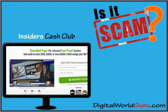 is insiders cash club a scam