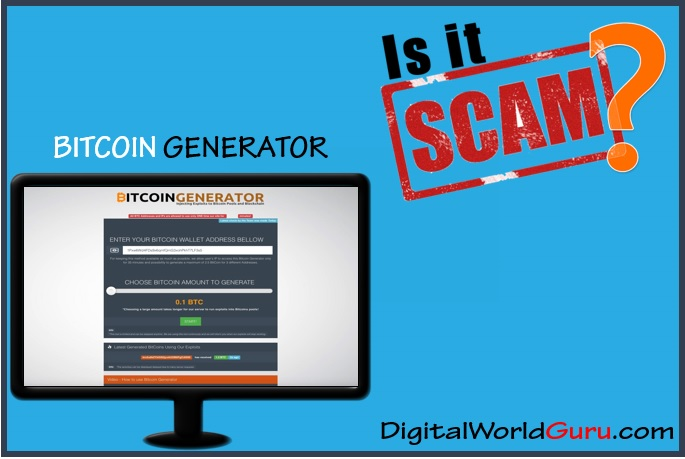 is the bitcoin generator a scam